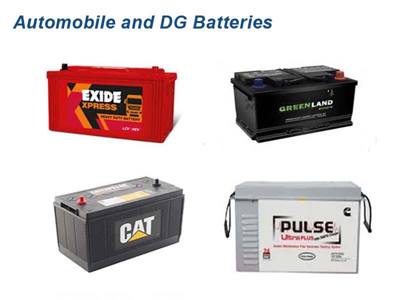 Automobile and DG Batteries