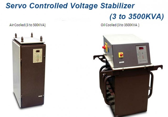 Servo Controlled Voltage Stabilizer (3 to 3500KVA)